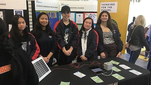 Warwick Senior High School NXplorers team at Perth Science Festival, August 2019